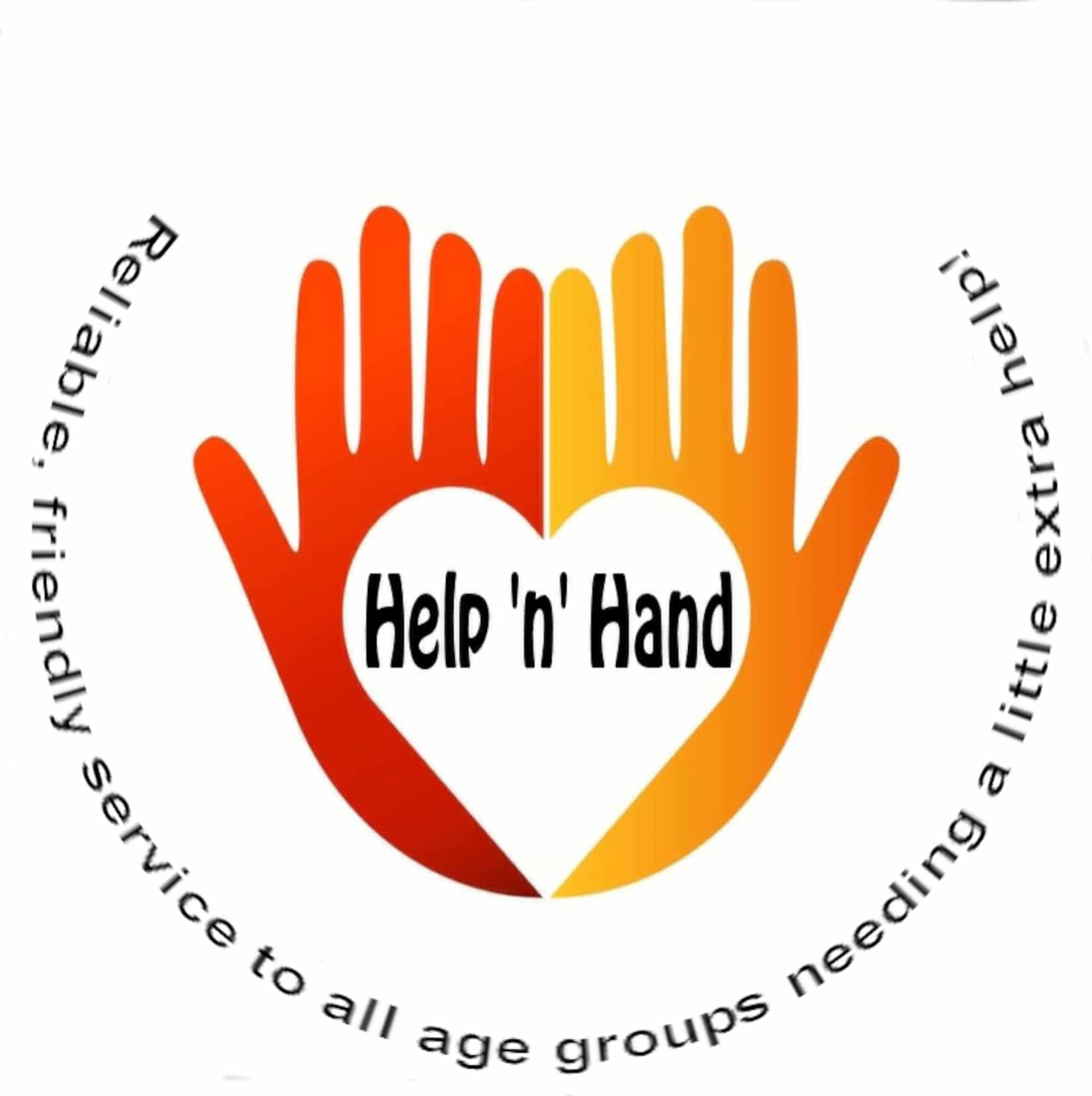 Red and Orange Logo for Help 'n' Hand service